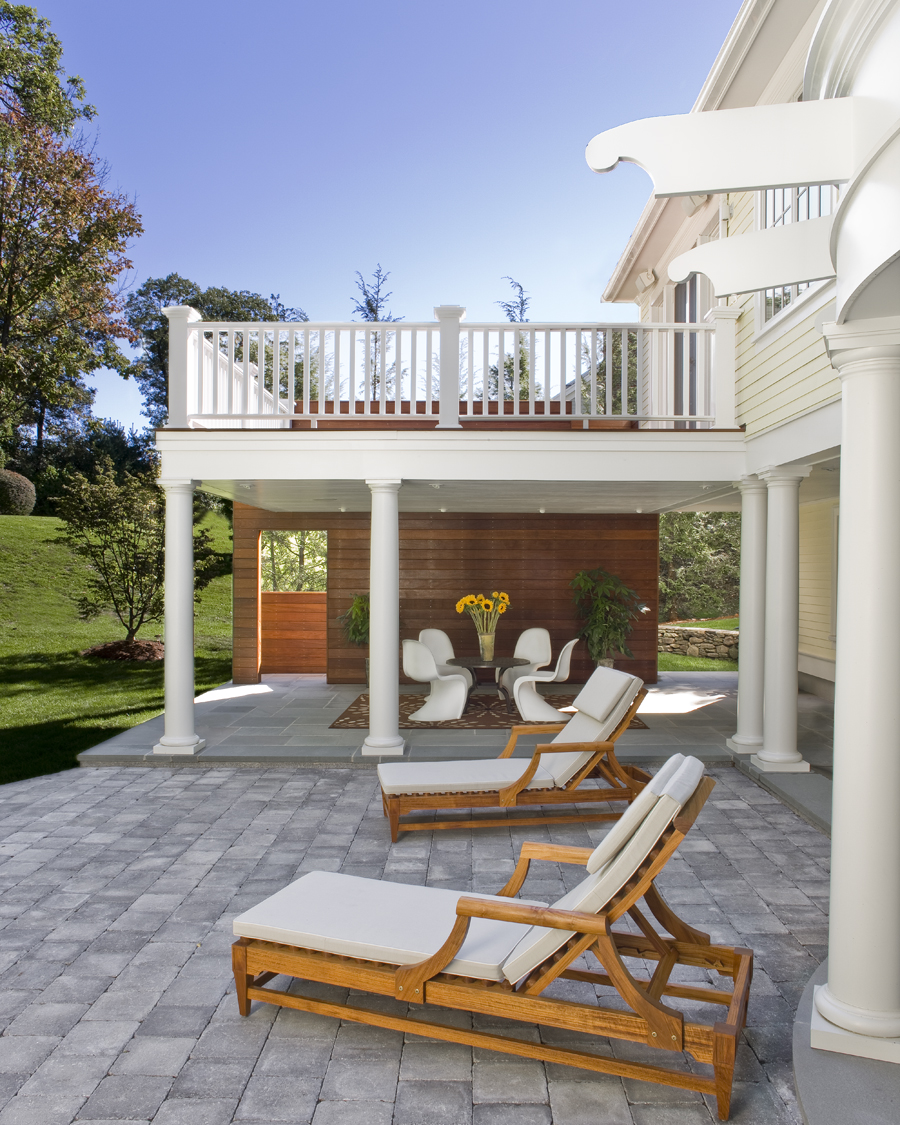 outdoor living spaces, Newton, Massachusetts