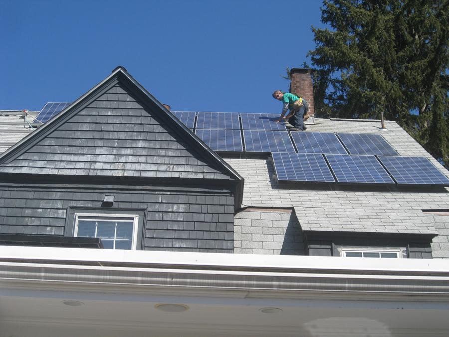 solar panels, Boston, Massachusetts