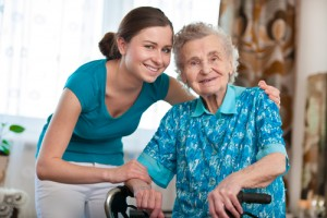 senior citizen at home