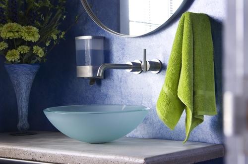 green bathroom renovation